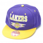 Designer's NBA Los Angeles Lakers Pattern Cotton Hat / Cap - Purple + Yellow