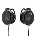 Sport Stereo Rechargeable MP3 Player Stereo Headset w / TF / FM - Black