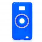 Digital Camera Style Protective Silicone Back Case for Samsung i9100 - Blue