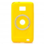 Digital Camera Style Protective Silicone Back Case for Samsung i9100 - Yellow