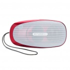 Stylish Rechargeable MP3 Player Music Speaker with FM / TF / USB / Earphone Slot (Red)