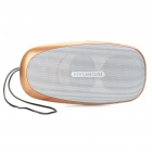 Stylish Rechargeable MP3 Player Music Speaker with FM / TF / USB / Earphone Slot (Gold)