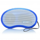 Stylish Rechargeable MP3 Player Music Speaker with FM / TF / USB / Earphone Slot (Blue)