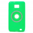 Digital Camera Style Protective Silicone Back Case for Samsung i9100 - Green