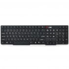 MCSAITE KB-2011B Ultra-Thin USB Wired 108-Key Keyboard - Black (120cm-Kabel)