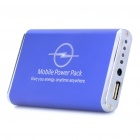 5000mAh Mobile Power Rechargeable Emergency Battery Pack w/ Adapters - Blue