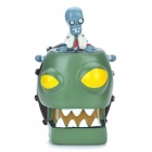Creative Plants vs. Zombies Zombie King Style Saving Coins Money Bank - Green + Coffee