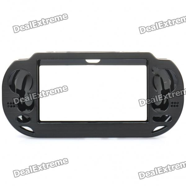 Protective Aluminum Cover Plastic Case for PS Vita - Black
