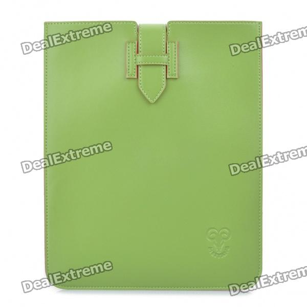 Stylish Protective PU Leather Case Pouch for Ipad / Ipad 2 - Green