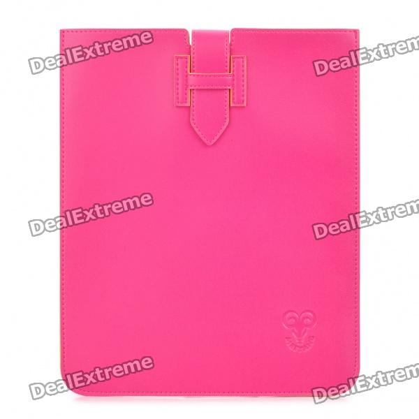 Stylish Protective PU Leather Case Pouch for Ipad / Ipad 2 - Deep Pink