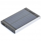 SUNGZU USB / Solar Powered 4000mAh Battery Pack w / Adapter für Handy + More - Schwarz