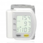 "1.7"" LCD Wrist Style Digital Blood Pressure Monitor - White (2 x AAA)"