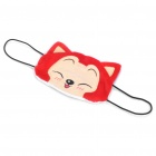 Cute Cartoon Cat Style Mouth Face Mask (Red + Yellow)