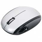 Genuine LEXMA M710R 2.4GHz Wireless 2000DPI Blue Trace Mouse - Black + Silver (2 x AAA)
