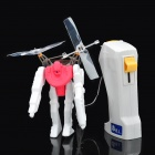 Remote Control Air Fighting Robots Assembly Toy - Yellow + Red + White
