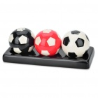 Creative Football Style Kitchen Spice Jar Bottle Set with Holder (Set of 3)