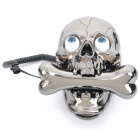 Stylish Skull Style Wired Telephone - Grey