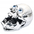 Stylish Skull Style Wired Telephone - Silver