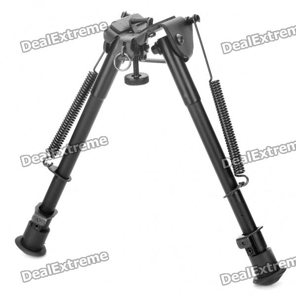9 Retractable Aluminum Alloy Tactical Spring Loaded Bipod Rifle Stand for M4 / M16 (Max. 80Kg) 27 retractable aluminum alloy tactical spring loaded bipod rifle stand for m4 m16 max 50kg