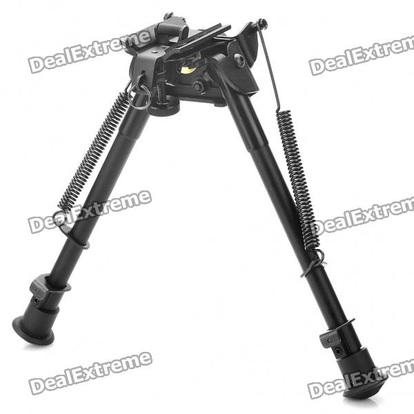 9 Retractable Aluminum Alloy Tactical Spring Loaded Bipod Rifle Stand for M4 / M16 (Max. 80Kg) 6 aluminum alloy tactical bipod w extendable leg for guns black