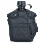Outdoor-Mobile Kantine Flasche mit Nylon Pouch - Black (1L)