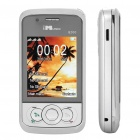 "Q900 GSM TV Cellphone w/ 2.2"" LCD Screen, Quadband, Triple SIM, Flash Light and FM - Silver"