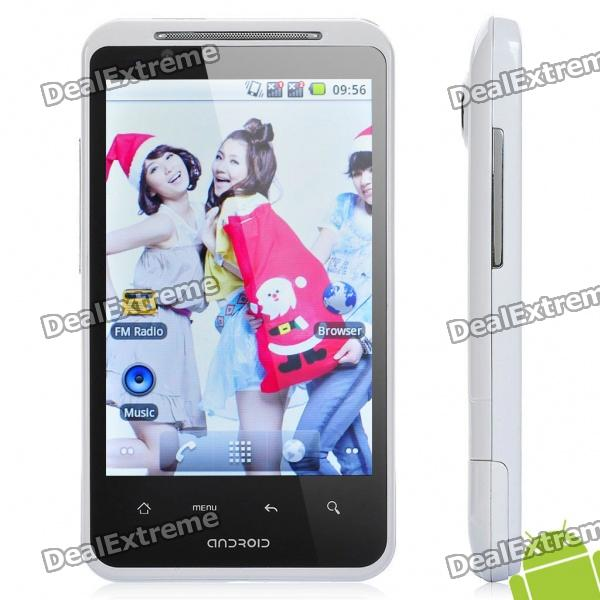 "G10 Android 2.2 TV Smartphone w/ 4.0"" Capacitive, GSM Quadband, Dual SIM, Wi-Fi and GPS - White"