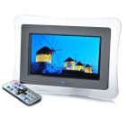 "7 ""Wide Screen TFT LCD Digital Photo Frame w / Fernbedienung / SD / AV-OUT / USB (800 x 600)"