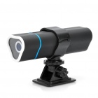 Multifunction Outdoor Video Camera Flashlight with MP3 Music Speaker Player - Black