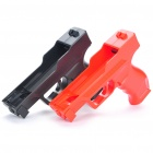 Plastic Motion Plus Function Gun for Wii Remote - Red + Black (Pair)