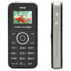 "MELROSE Ultra Mini GSM Barphone w/ 1.0"" LCD, Quadband and FM - Black"