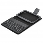 "7"" 82-Key Bluetooth V2.0 Wireless Keyboard w/ PU Leather Case for Samsung P1000 - Black"