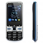 "Q7 Russian Keypad TV Phone w/ 2.4"" LCD Screen, Quadband, Dual SIM, Java and FM - Black + Blue"