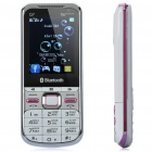 "Q7 Russian Keypad TV Phone w/ 2.4"" LCD Screen, Quadband, Dual SIM, Java and FM - White + Pink"