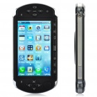 "T8800 Game GSM TV Cellphone w/ 3.6"" Touch Screen, Quadband, Dual SIM and Wi-Fi - Black"