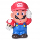 Cute Super Mario Figure Saving Coins Money Bank - Red + Blue + White