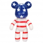 Fashion 7&quot; Momo Bear Cartoon Toy - White + Deep Blue + Red