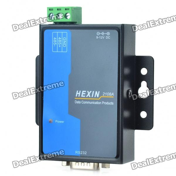 HXSP-2108A Photoelectric Isolation RS232 to RS485 Serial Converter Adapter - Black + White + Blue rs232 to rs485 passive interface converter adapter data communication serial 61516