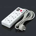 2500W 3 Universal Outlet Sockets Power Strip w/ Dual USB Ports (3-Flat-Pin Plug / AC 100~264V)