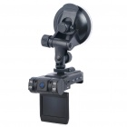 "1080P CMOS Dual Lens 5MP + 3MP Car DVR Camcorder w / 8-IR LED / HDMI / TV-Out / TF (2 ""LCD)"