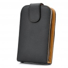 Protective PC Back Case PU Leather Cover for HTC G8 - Black