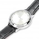Stylish Green LED Touch Screen Digital Wrist Watch - Silver + White + Black (1 x LR626)