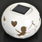 Cupid Solar Powered White + Color Changing LED Night Lamp