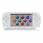 "4.3"" LCD HD Handheld Game Console Multimedia Player w/ Mini USB/TF/Camera - White (4GB)"