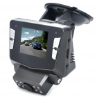 "1080P 5MP CMOS Wide Angle Car DVR Camcorder with 8-LED IR Night Vision / HDMI / TV-Out / TF (2"" LCD)"