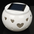 Heart Style Solar Powered White + Color Changing LED Night Lamp