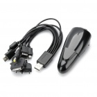 Car Cigarette Lighter / AC Power Adapter w/ 10-in-1 USB Charging Cable for Cell Phone + More