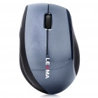 Genuine LEXMA M730R 2.4GHz Wireless 1000DPI Blue Trace Mouse - Black + Grey (2 x AAA)