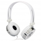 KANEN KM-870 Fashion Headphone with Microphone - Silver + White (3.5mm Jack)