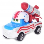 Cute Cars Mater Style Pull-Back Car Toy (Blue + White + Red)